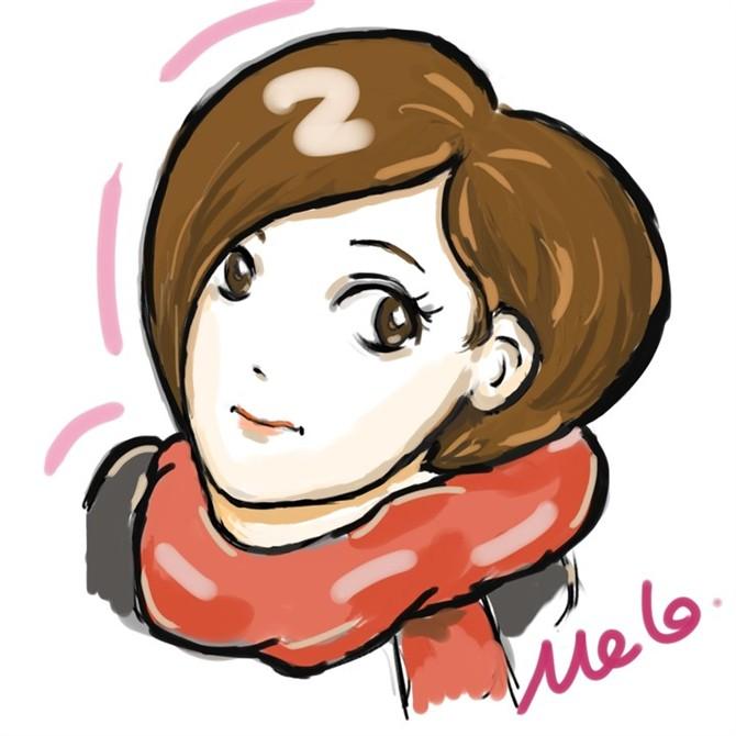 短发卡通女孩图片